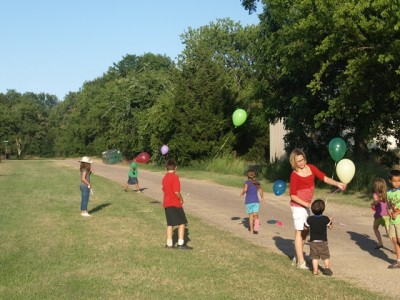 balloon release in our experiment to see how far they travel