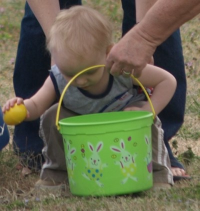 For some, it was thier first Easter egg hunt